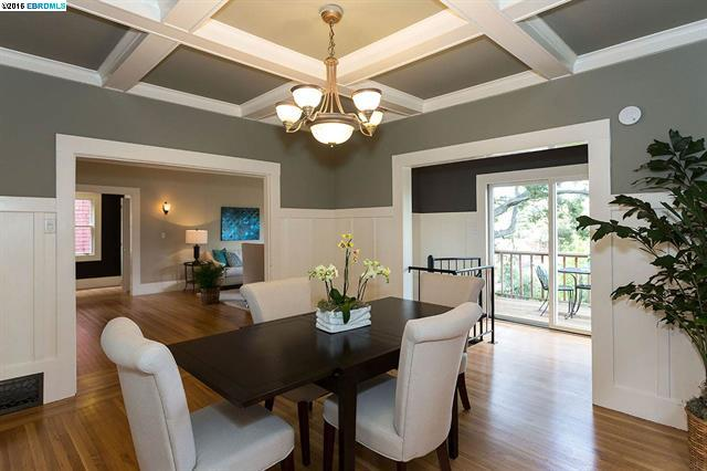 Mavis Delacroix, Realtor knows real estate -- discover the neighborhoods of the East Bay that she represents. Dining room.